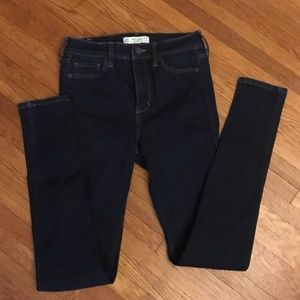 Abercrombie and Fitch dark skinny jeans.